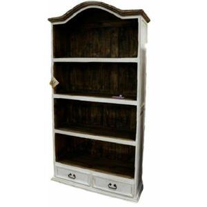 Million Dollar Rustic - Weathered White Bookcase