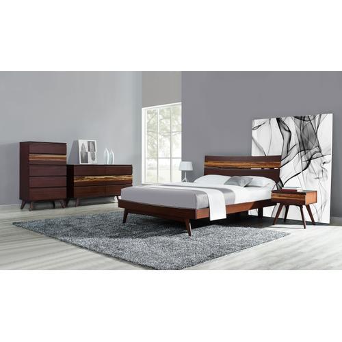Greenington Fine Bamboo Furniture - Azara California King Platform Bed, Sable