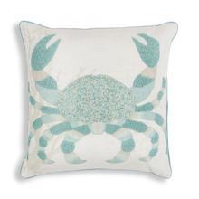 """L273 Aqua Crab Pillow 18"""" X 18"""""""