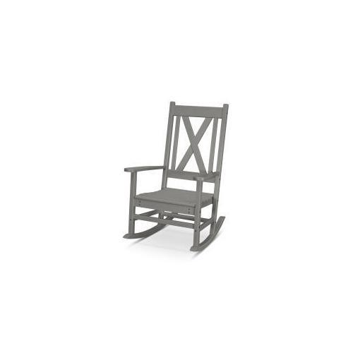 Polywood Furnishings - Braxton Porch Rocking Chair in Slate Grey