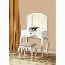 ACME Maren Vanity Desk & Stool - 90101 - White