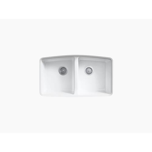 "Dune 33"" X 22"" X 9-5/8"" Undermount Double-equal Kitchen Sink"
