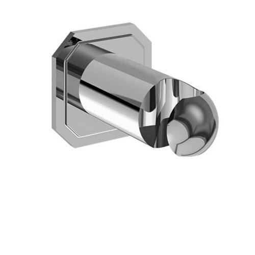Traditional Wall Bracket with Outlet - Polished Chrome