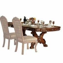 ACME Dresden Dining Table with Trestle Pedestal - 12150 - Cherry Oak