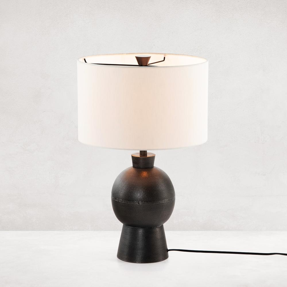 Kelita Table Lamp-textured Black Alu