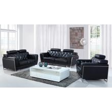 Product Image - Divani Casa Huron Modern Black Leather Sofa Set