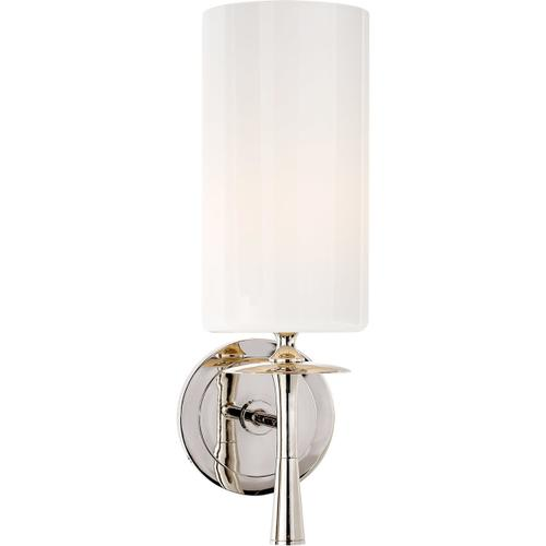Visual Comfort - AERIN Drunmore 1 Light 5 inch Polished Nickel Single Sconce Wall Light in White Glass