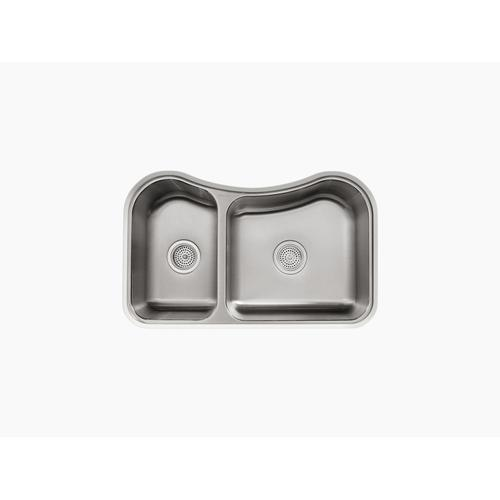 "31-5/8"" X 19-9/16"" X 8-3/8"" Undermount Double-bowl Extra-large/medium Kitchen Sink"