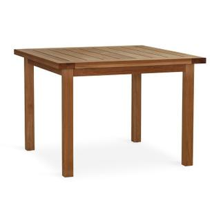 See Details - Martin Teak Tables Square Dining Table