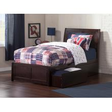 Portland Twin Bed with Matching Foot Board with 2 Urban Bed Drawers in Espresso