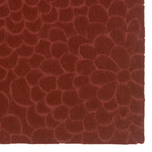 Mosaic Floral Deep Rust 5ftx7ft