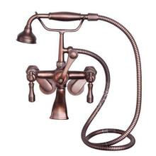 Tub Wall-Mounted Filler with Hand-Held Shower - Lever Handles / Oil Rubbed Bronze