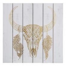 Gold Foil Bull Skull