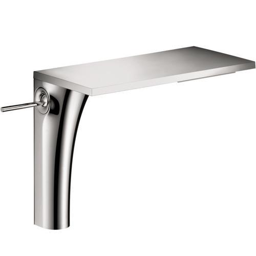 Chrome Single lever basin mixer 220 for washbowls with waste set