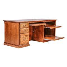 Forest Designs Traditional Oak Computer Desk: 78W x 30H x 28D