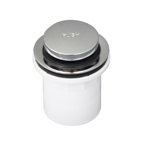 Push Button Tub Drain with PVC Adapter - Polished Chrome