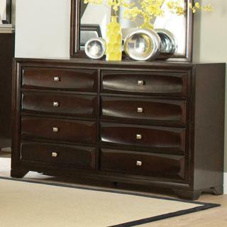See Details - Jaxson Transitional Cappuccino Eight-drawer Dresser
