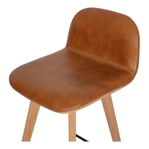 Moe's Home Collection - Napoli Leather Barstool Tan