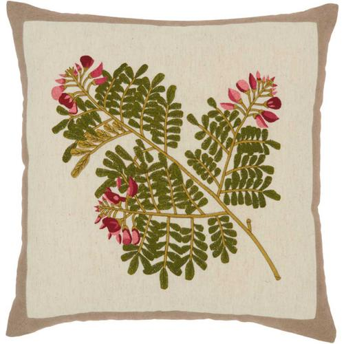 "Royal Palm Ns762 Natural 18"" X 18"" Throw Pillow"