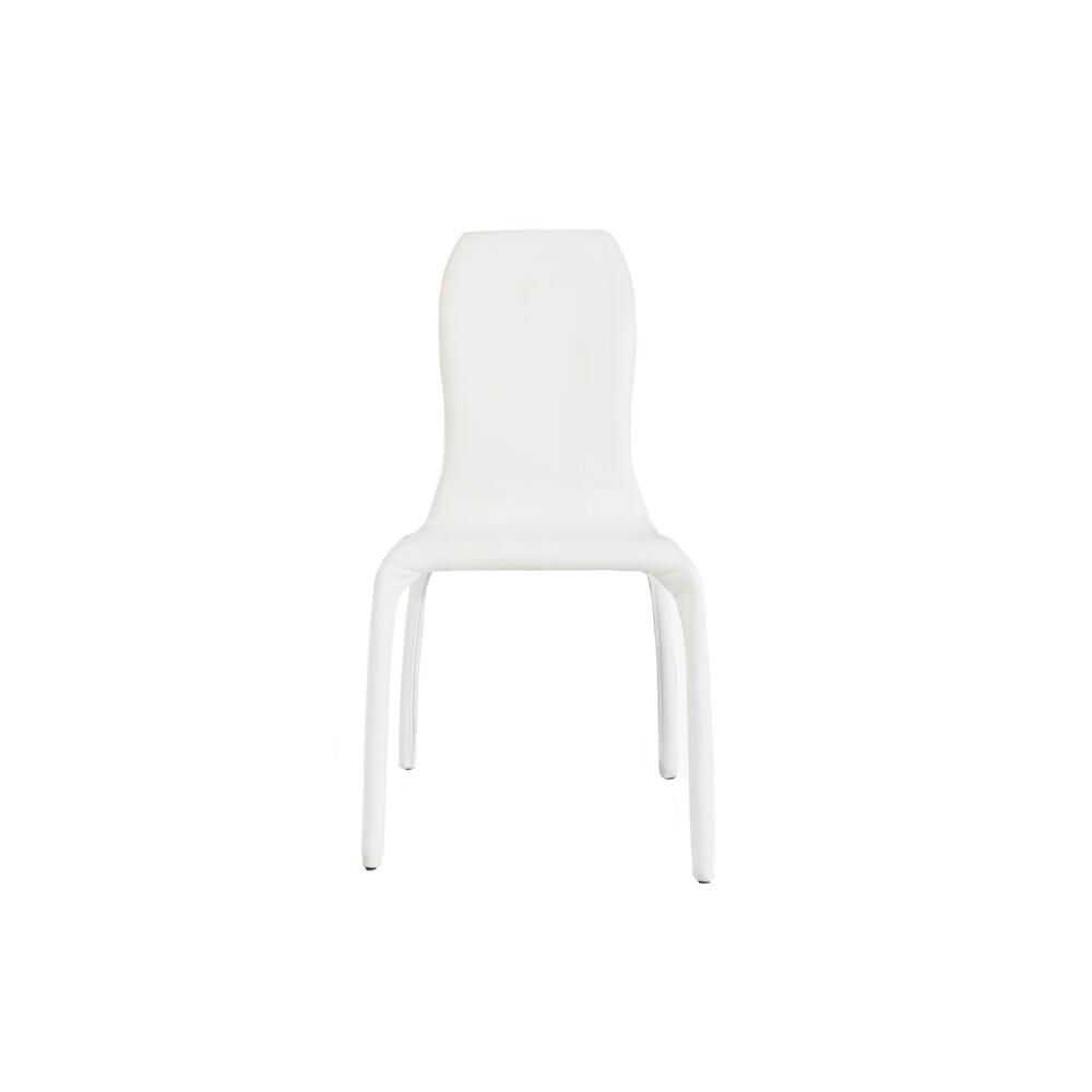 The Pulse White Eco-leather Dining Chairs
