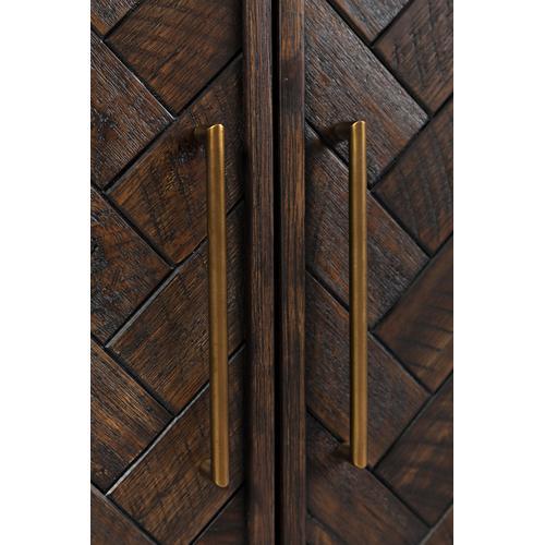 Gramercy Dark Chevron 2 Door Accent Cabinet