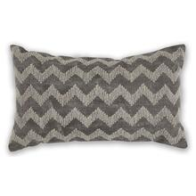 "Pillow L325 Grey Chevron 12"" X 20"""