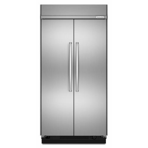 KitchenAid - 30.0 cu. ft 48-Inch Width Built-In Side by Side Refrigerator with PrintShield™ Finish - Stainless Steel with PrintShield™ Finish
