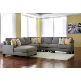Chamberly 5 Piece Sectional - Alloy