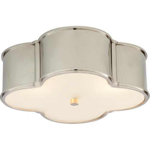 Visual Comfort - Alexa Hampton Basil 3 Light 17 inch Polished Nickel Flush Mount Ceiling Light