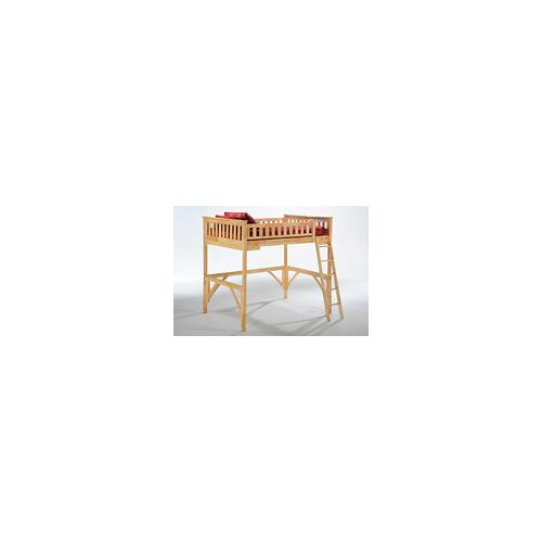 Night and Day Furniture - Ginger Loft Bunk in Natural Finish