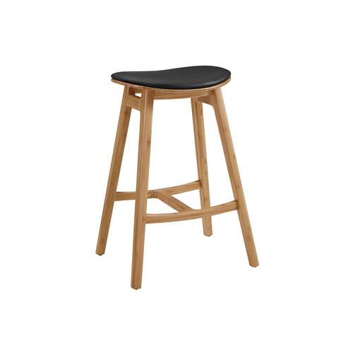 "Skol 26"" Counter Height Stool With Leather Seat, Caramelized, (Set of 2)"