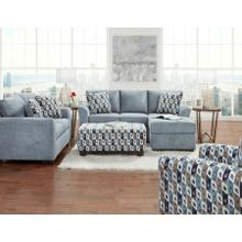 3900 Anna Sofa-Chaise in Blue/Grey (Sofa-Chaise & Floating Ottoman)