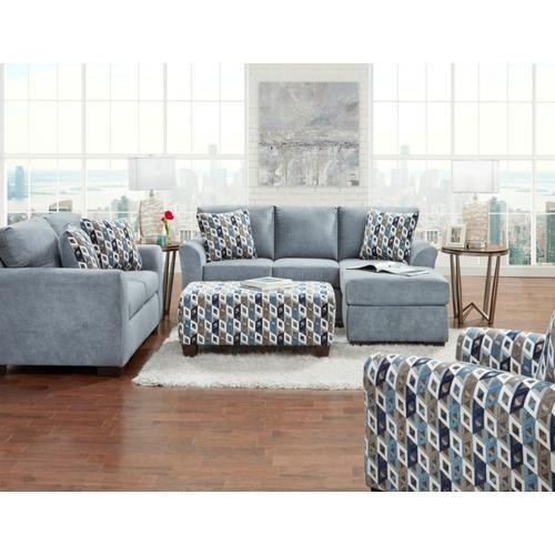 3900 Anna Loveseat in Blue/Grey (MFG#: 3902 ANNB)