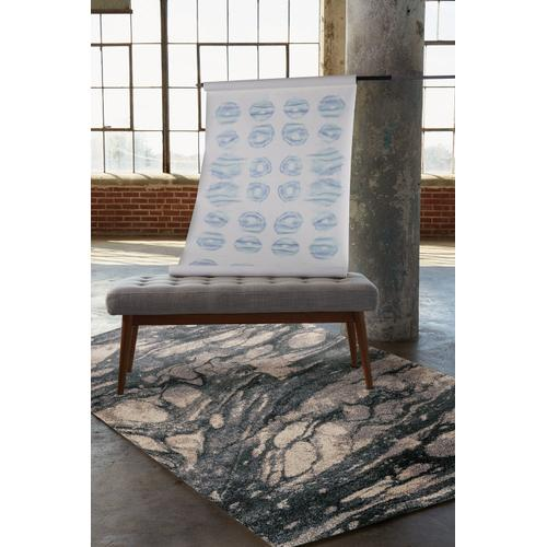 Mineral-Marble Blue Slate Machine Woven Rugs