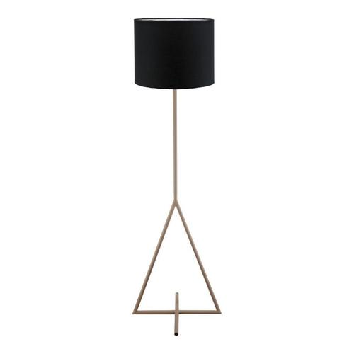 Newman Floor Lamp Pink With Black Shade