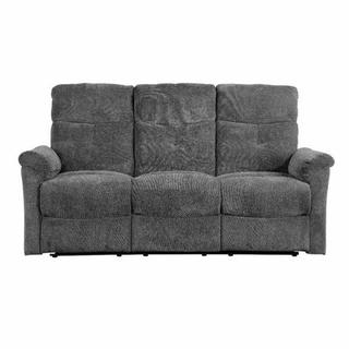 ACME Treyton Sofa (Motion) - 51815 - Contemporary - Chenille, Frame: Wood (Hermlock/Fir,Ply), Foam (D25), Metal Reclining Mechanism - Gray Chenille