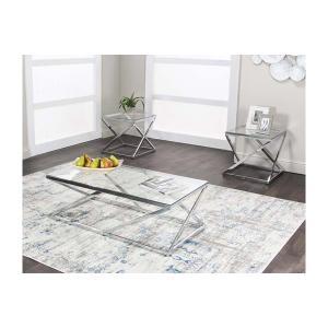 Cramco Furniture - Boxer- Rect 3pk Occ Gls/chrome