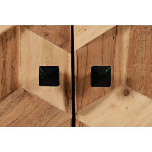 Geometrix 3 Door Accent Cabinet
