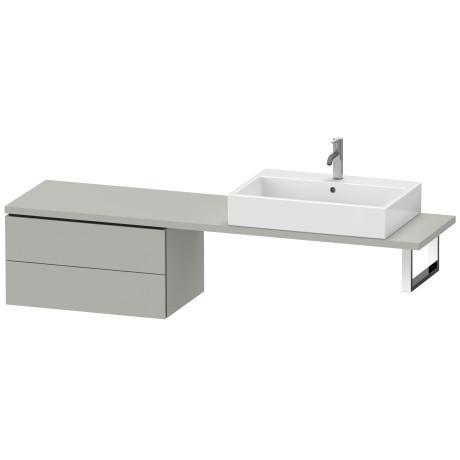 Low Cabinet For Console Compact, Concrete Gray Matte (decor)