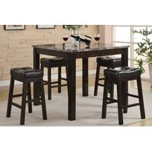 5 PC Cntr Ht Set, Table, Bar Stools