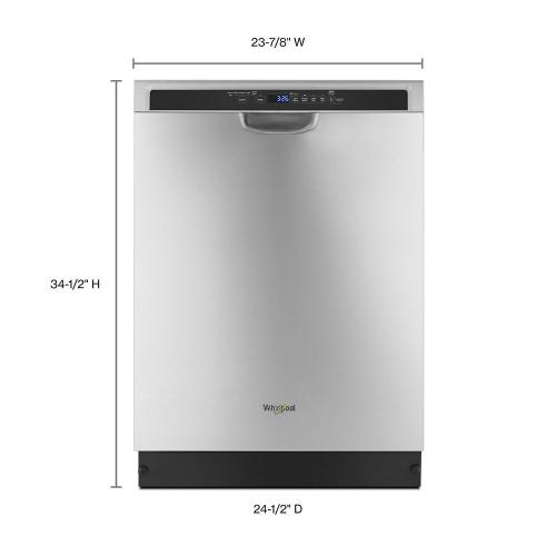 Whirlpool - Stainless steel dishwasher with third level rack