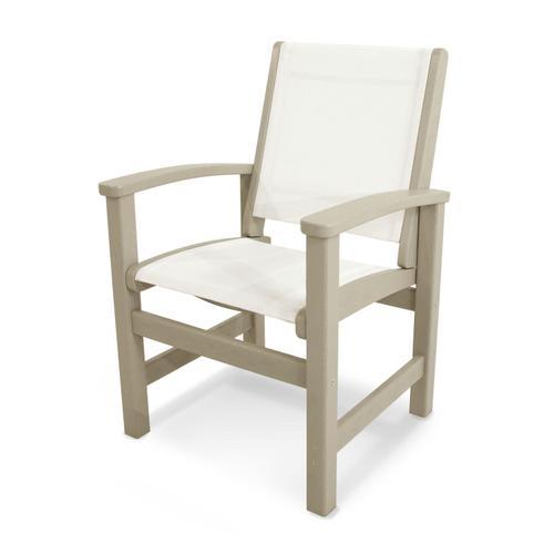 Sand & White Coastal Dining Chair