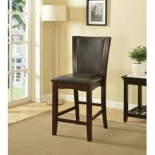 ACME Malik Counter Height Chair (Set-2) - 70514 - Espresso PU & Espresso