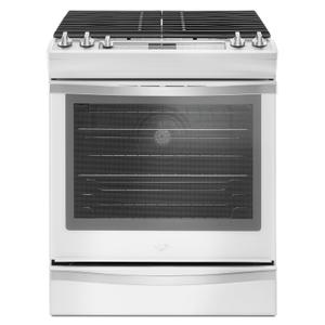 Whirlpool5.8 Cu. Ft. Slide-In Gas Range with EZ-2-Lift™ Hinged Grates White Ice