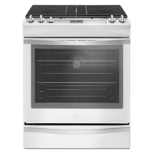 Whirlpool - 5.8 Cu. Ft. Slide-In Gas Range with EZ-2-Lift™ Hinged Grates White Ice
