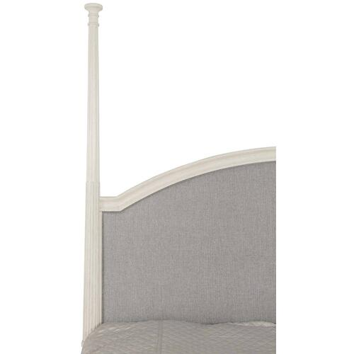 King Allure Upholstered Panel Bed in Manor White (399)