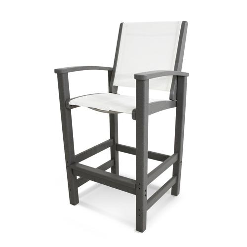 White Coastal Bar Chair