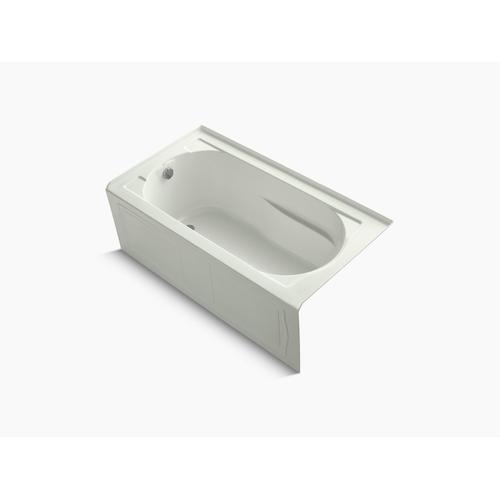 """Dune 60"""" X 32"""" Alcove Bath With Bask Heated Surface, Integral Apron and Left-hand Drain"""