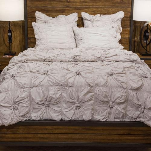 2pc Twin Comforter Set Stone