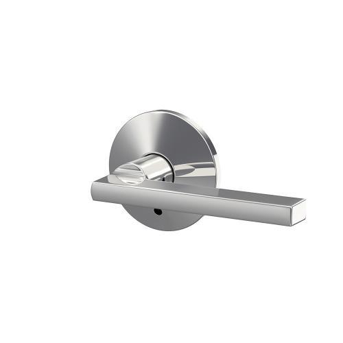 Custom Latitude Lever with Kinsler Trim Hall-Closet and Bed-Bath Lock - Bright Chrome